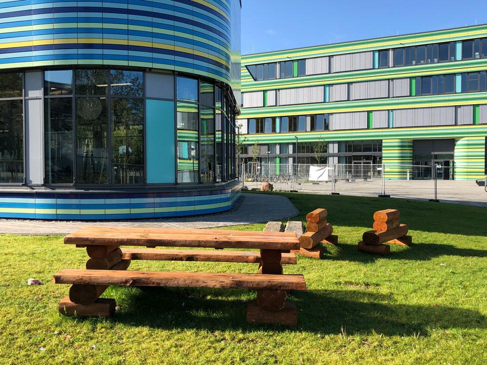 Referenzbild Alstercampus Hamburg Sitzecke